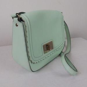 Kate Spade Cross Body Light Blue Scalloped Bag